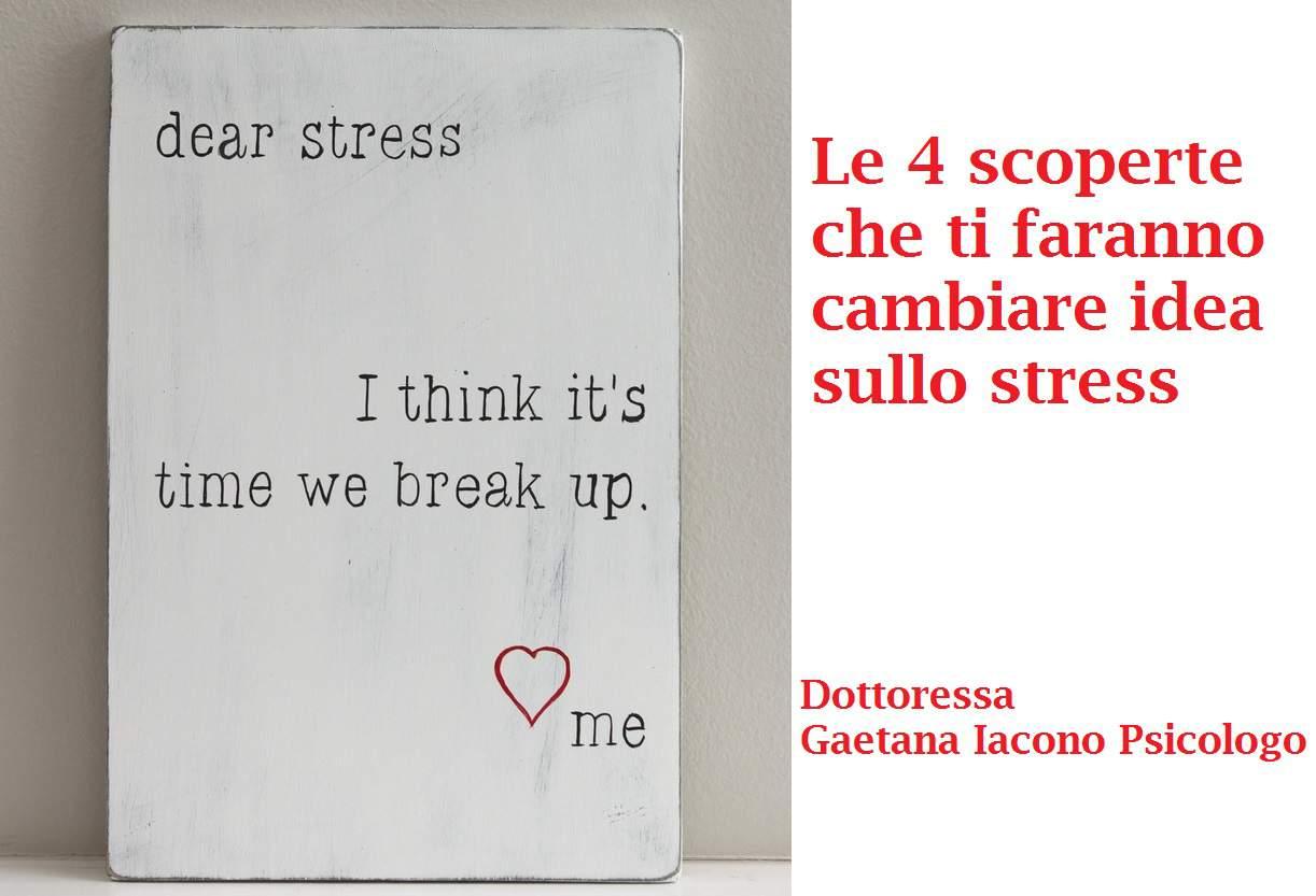 scritta sullo stress