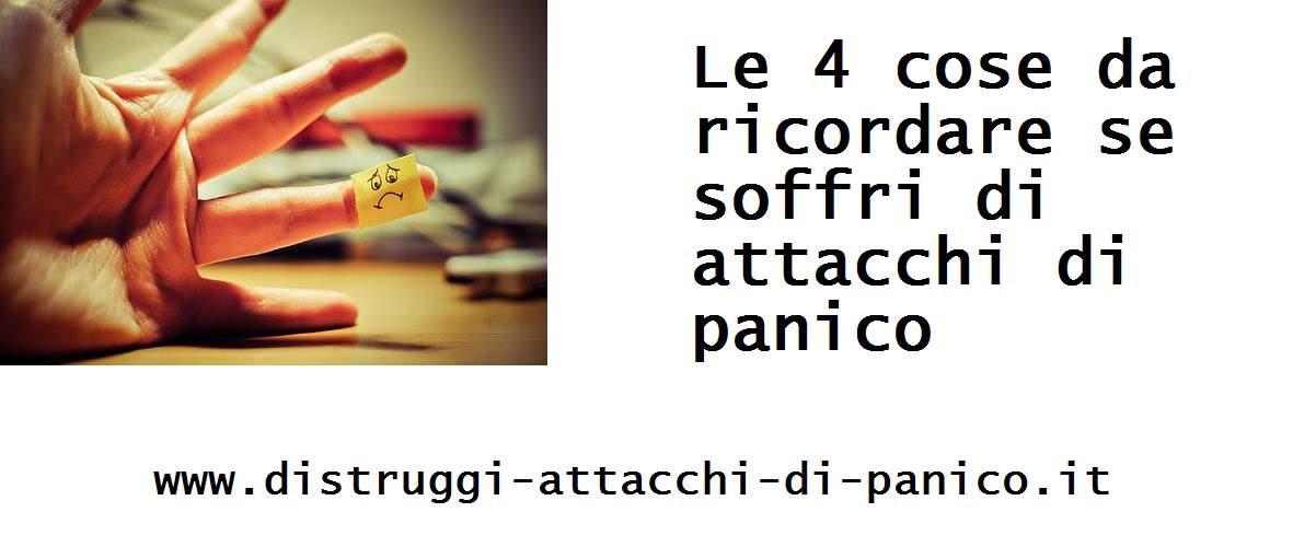 Favorito Le 4 cose da ricordare se soffri di un attacco di panico - Gaetana SC08
